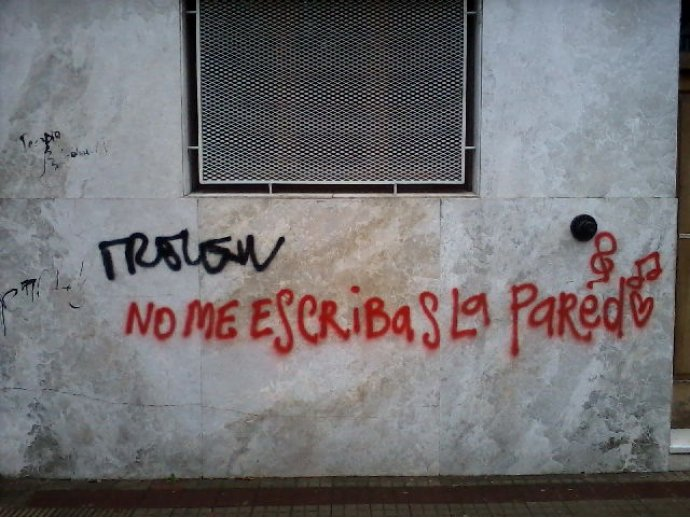 canciones esa pared: